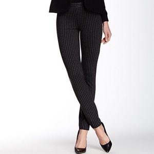 Narrow Low Rise Box Patterned Pants